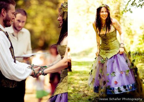 Креативные свадебные платья