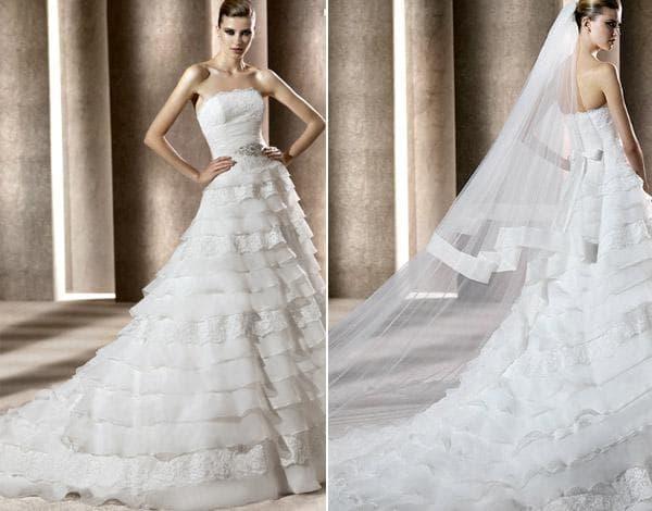 Фото свадебного платья с корсетом
