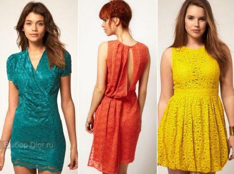 Гипюровые и кружевные платья