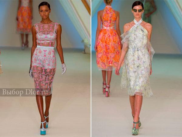Легкие прозрачные платья от Erdem