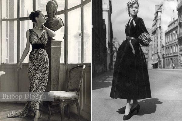 Платья Christian Dior 1947