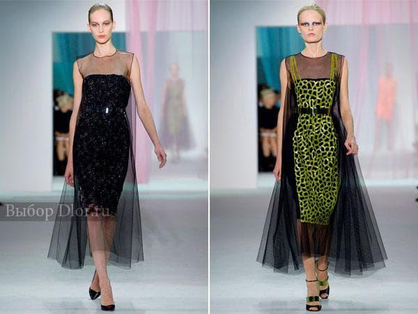 Вечерние платья от Christian Dior  украшенные камнями