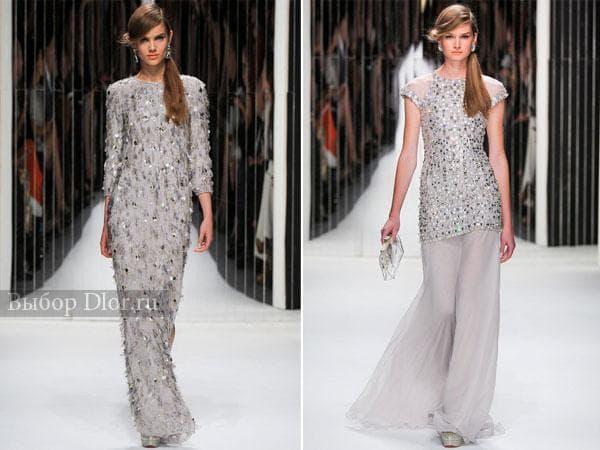 Серебряные платья Jenny Packham 2013