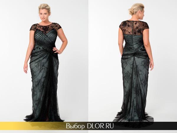 Гипюровое платье-русалка для пышных дам