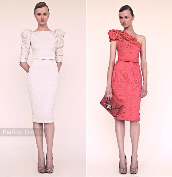 Стильные платья-карандаш от Marchesa 2013
