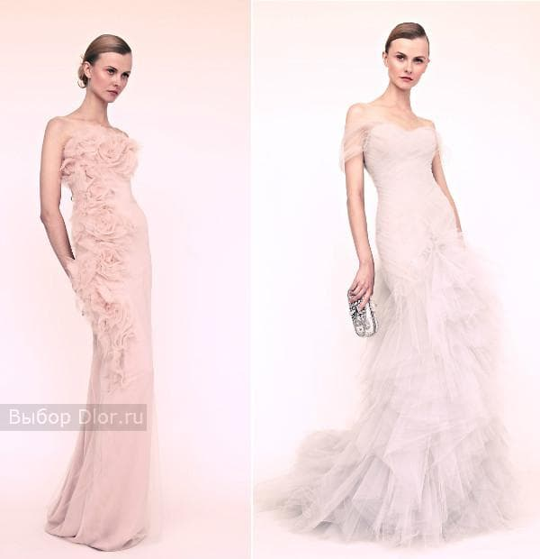 Элегантные вечерние платья в светлых тонах