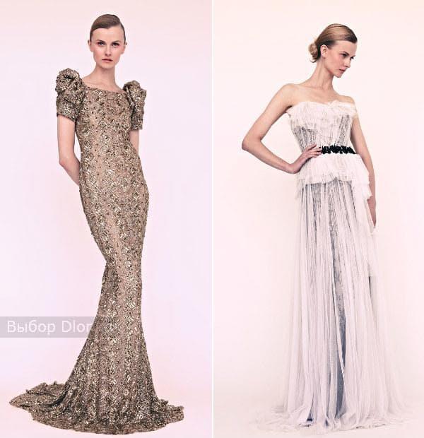 Фото коллекции вечерних платьев от Marchesa