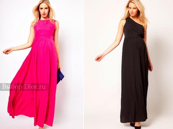Розовое и черное вечернее платье в греческом стиле