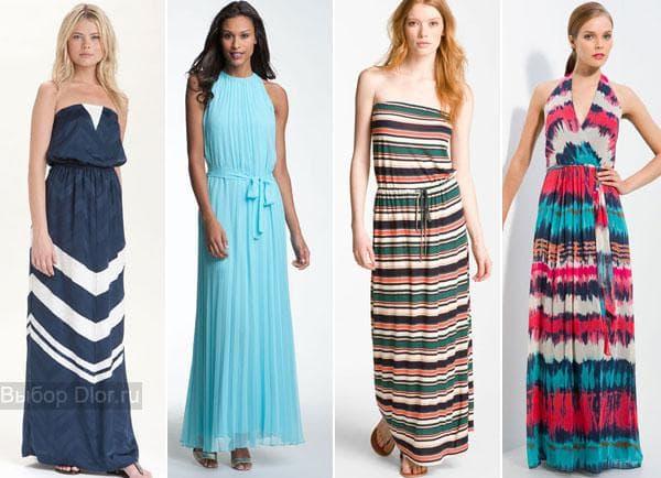Длинные пляжные платья