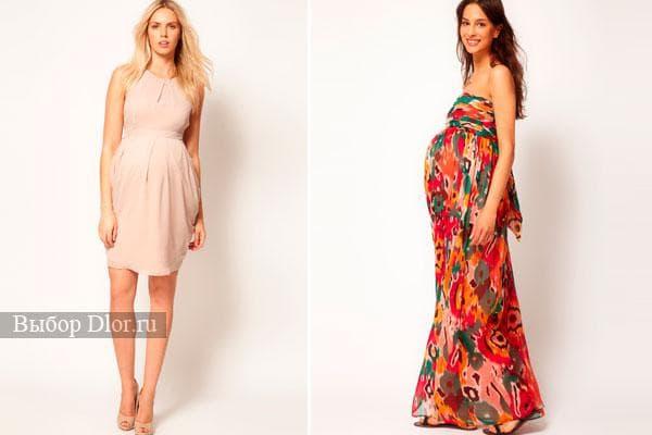 Модные фасоны нарядов для будущих мама