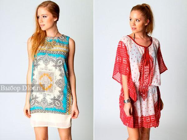 Легкие и цветные платья-рубашки