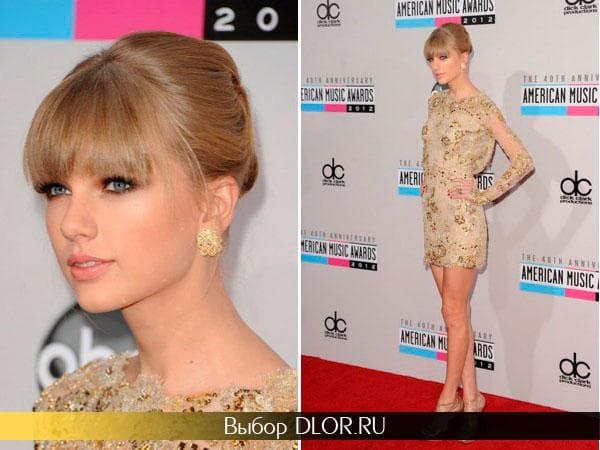 Золотое мини-платье Тэйлор Свифт