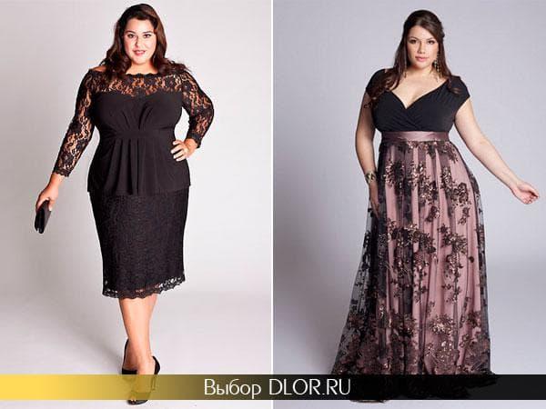 Фото новогодних платьев для полных женщин