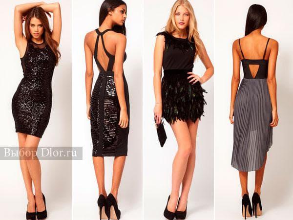 Нарядные платья с пайетками черного цвета