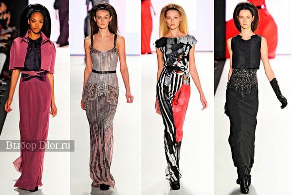 Элегантные длинные платья от Carolina Herrera