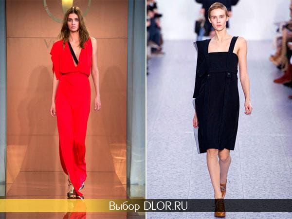 Фото модных платьев с одним рукавом