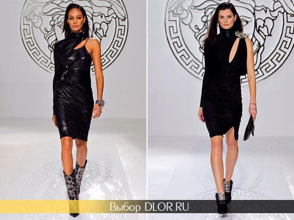 Черные платья-футляр с одним рукавом