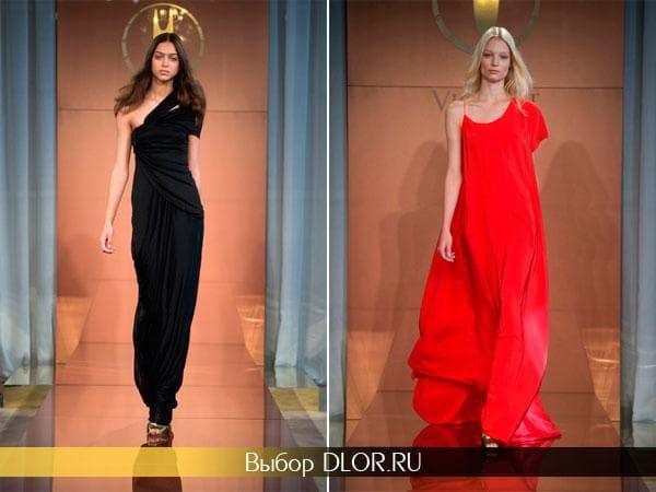 Фото черного и красного платья от Vionnet