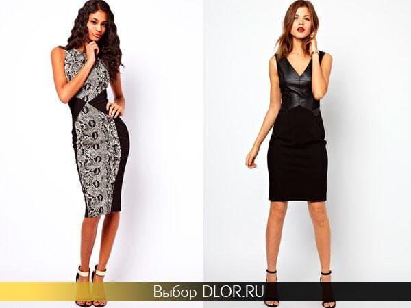 Черные деловые платья