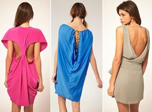 Необычные платья с открытой спиной