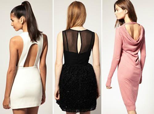 Короткие платья с открытой спиной - фото