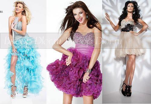 Короткие пышные платья