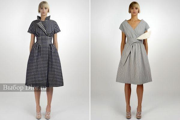 Стильные модели  платья-халат