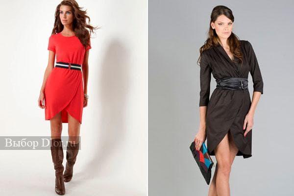 Платье-халат 2012 красного и черного цвета