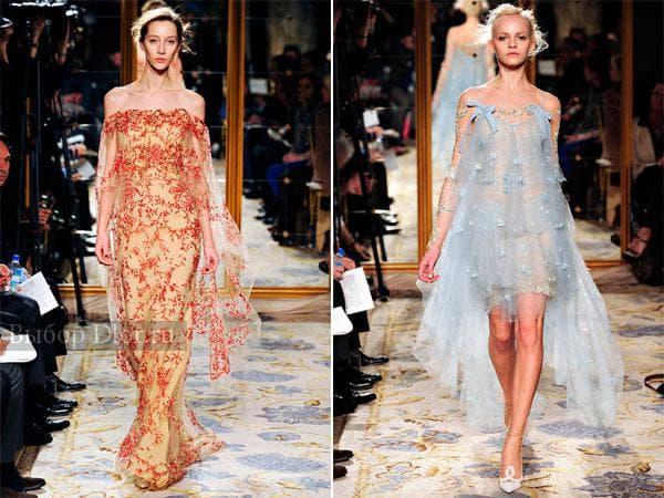Вечерние платья с открытыми плечами