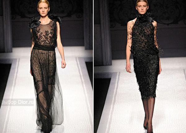 Черные вечерние платья от Alberta Ferretti