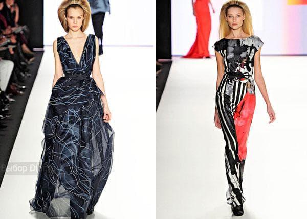 Длинные вечерние платья от Carolina Herrera