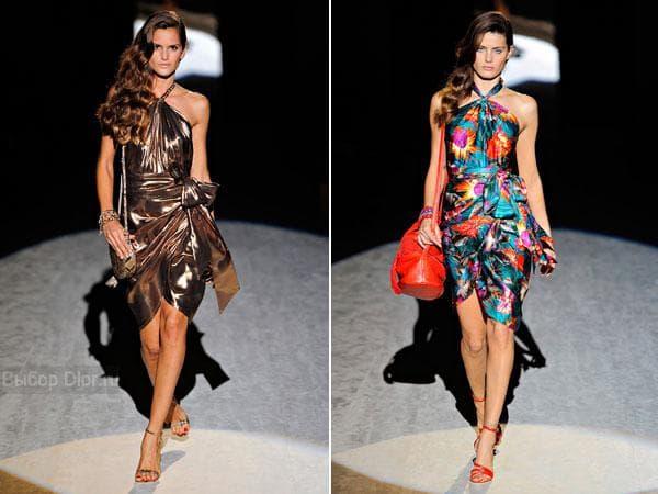 Вечерние облегающие платья от Salvatore Ferragamo