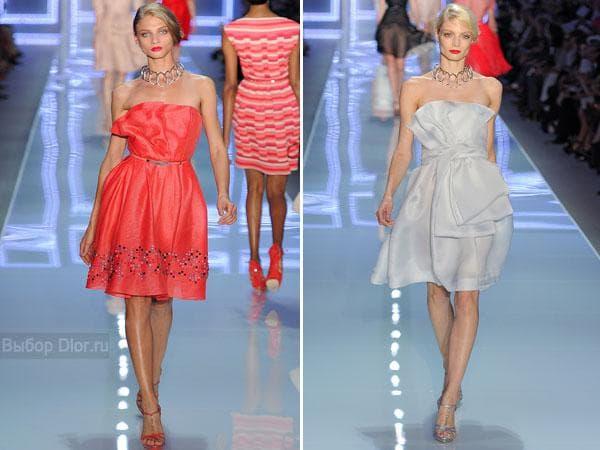 Коктейльный вариант платья без бретелек