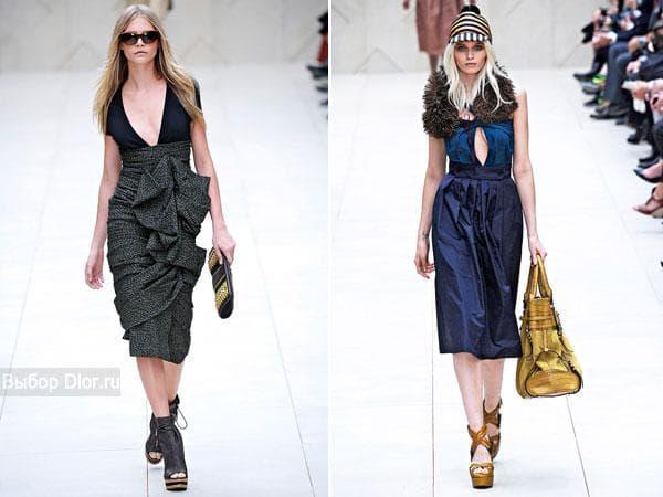 Коллекция модных платьев от Burberry Prorsum