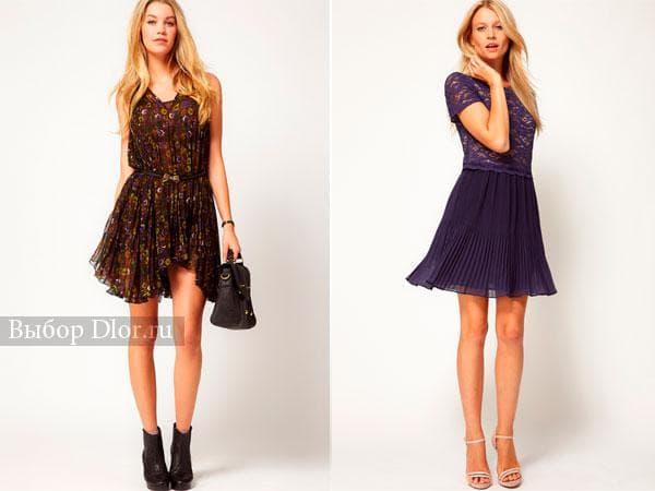 Повседневные варианты плиссированных платьев