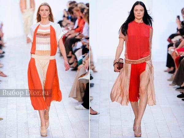 Плиссированные платья от Chloé