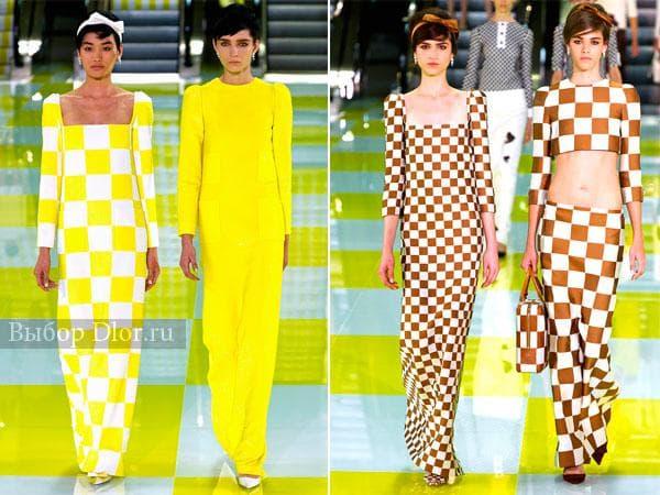 Желтые и коричневые платья в пол с длиными рукавами