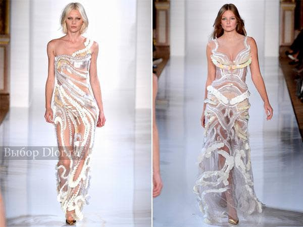 Прозрачные облегающие платья от Валентина Юдашкина