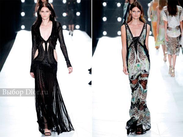 Коллекция платьев в пол от Roberto Cavalli