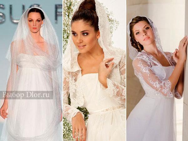 Фото свадебных платьев с фатой-капюшоном