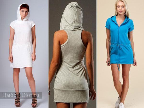 Короткие спортивные платья без рукавов