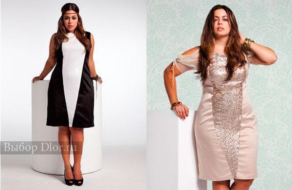 Облегающие вечерние платья для полных женщин