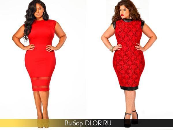 Фото красных платье для полных