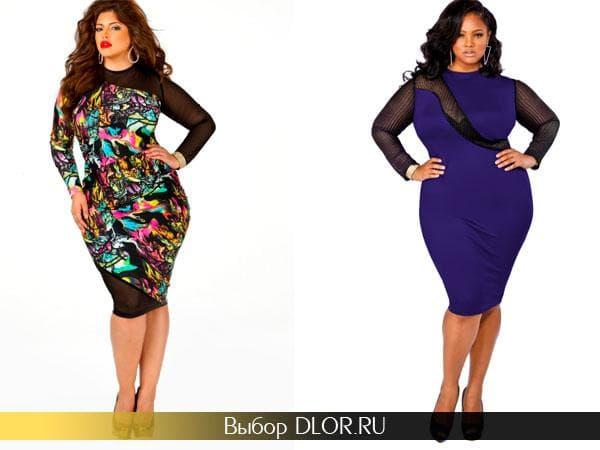 Яркие модели платьев больших размеров