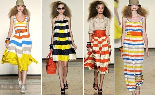 Фото полосатых платьев от Marc by Marc Jacobs