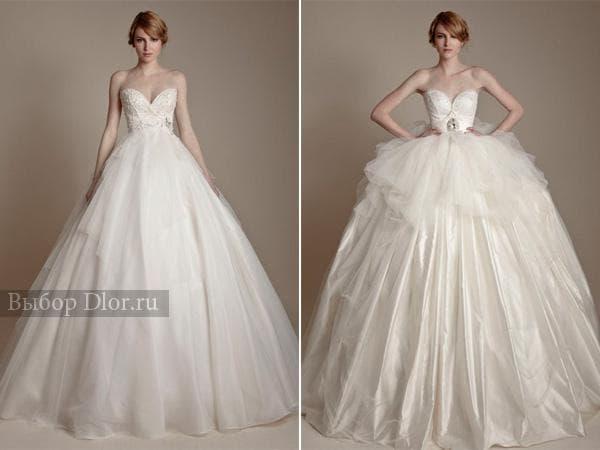 Свадебные платья для беременных с пышной юбкой