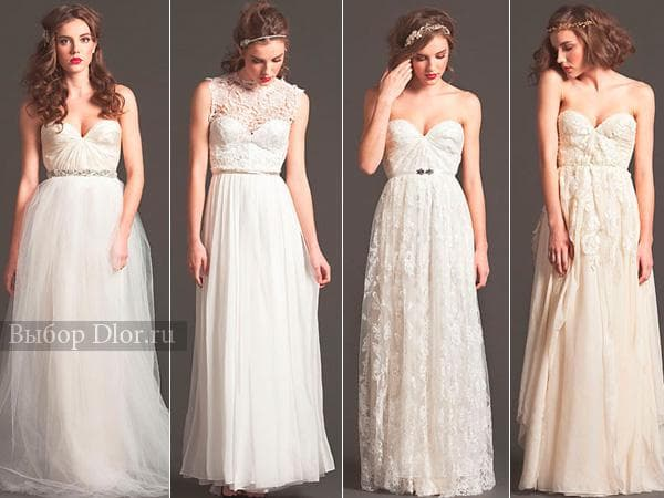 Свадебные наряды в греческом стиле