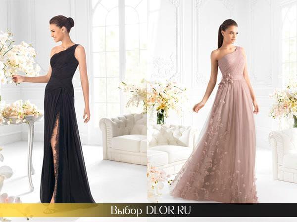 Черное и бежевое выпускное платье