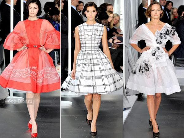 Пышные платья от Christian Dior