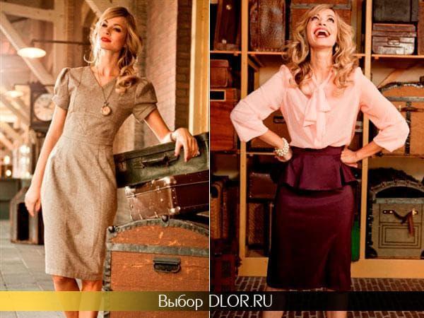 Модные винтажные платья на выпускной